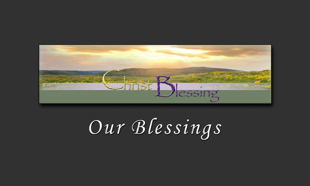 Christ Blessing Site Banner